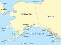 alaska on map gulf of alaska
