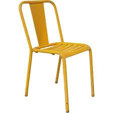 chaises jaunes paire de chaises t4 jaunes de xavier pauchard pour tolix 1950