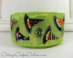 halloween wired ribbon 2 1 2 witch u0027s hat citrus
