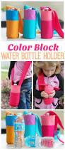 color block water bottle holder tutorial gluesticks things to