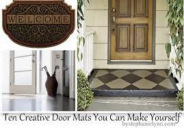 Interior Door Mats Creative Door Mats You Can Make Yourself Tuesday Ten Diy
