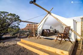 desert tent luxury cing in moab utah luxury tent cing utah