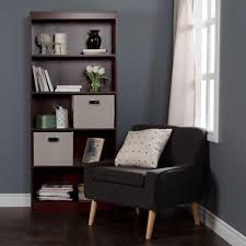 Sauder Premier 5 Shelf Composite Wood Bookcase by South Shore Axess Pure White Open Bookcase 8050143k The Home Depot