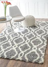 4 X 6 Area Rugs Moroccan Trellis Soft And Plush Grey Shag Rug 4 By 6 4