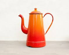 Kitchen Accessories In Red - french vintage kettle coffee pot red kitchen by cabartvintage