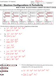 electron configuration worksheet answers part a worksheets for
