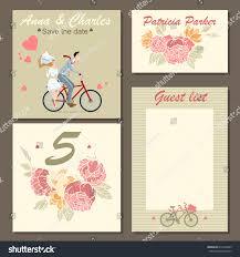 Wedding Invitation Cards Set Wedding Invitation Cards Labels Floral Stock Vector 613470929