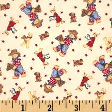 cowboy wrapping paper flannel tossed cowboy bears ivory multi discount designer fabric