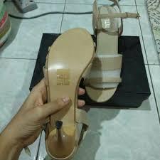 Kasut Zalora kasut new brand velvet saiz 39 colour beige kasut baru belum