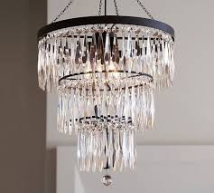 Pottery Barn Celeste Chandelier Adele Crystal Large Chandelier Pottery Barn House Pinterest