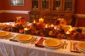 fall table with candles fall candlelight decorating