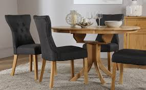 hudson round extending dining table u0026 6 chairs set bewley slate