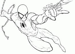 spiderman coloring pages kids printable coloring