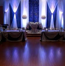 elegant royal blue wedding backdrops by mega city group wedding