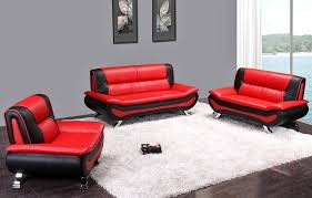 Black Modern Leather Sofa And Black Leather Sofa Set