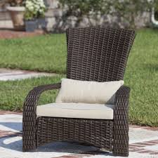 Patio Chair With Ottoman by Outdoor Club Chairs You U0027ll Love Wayfair