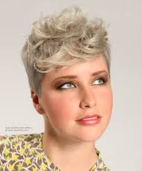 ballroom dancers hairstyle with a short back and curly front