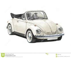 volkswagen bug drawing vw beetle convertible 1970s editorial photography image 42851362