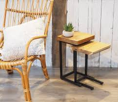 Coffee Table Nest by Industrial Wood Coffee Table Nest By Za Za Homes