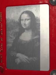 mona lisa printed on robotic etch a sketch youtube