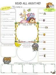 all about me worksheet for kids worksheets