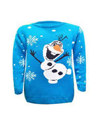 childrens boys 3d frozen olaf reindeer jumper