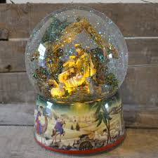 large nativity musical snow globe barretts of