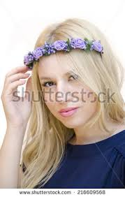 floral headband girl floral headband stock images royalty free images vectors