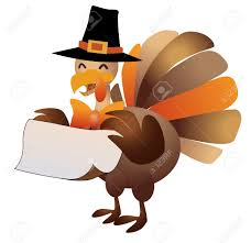 happy thanksgiving turkey with sign illustration royalty free