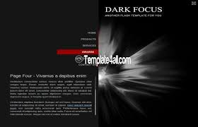 free flash templates black theme design flash black