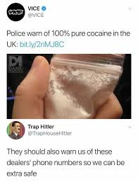 So Much Cocaine Meme - dopl3r com memes vice vice vice police warn of 100 pure