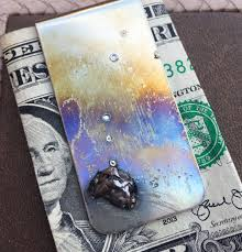 meteorites money clip gifts for dad unique gifts for men