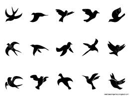 flying bird silhouette tattoo stencil