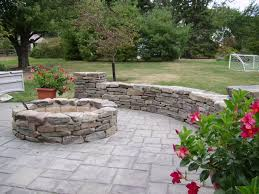 building a backyard fire pit stone landscape pavers and bricks