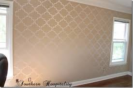 how to stencil a wall u0026 a giveaway southern hospitality