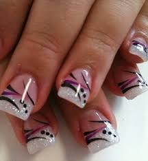 french acrylic nails superb french nail art nail arts and nail