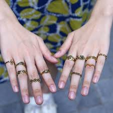 midi rings set set of 11 stylish multi pattern sun moon flower leaves midi rings