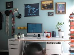 charming home office wall decor ideas with light blue home and