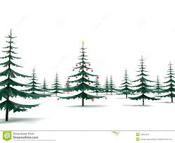modern christmas modern metal christmas tree in the fores stock illustration