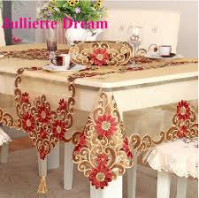 0428 tablecloth european style embroidered table cloth flower