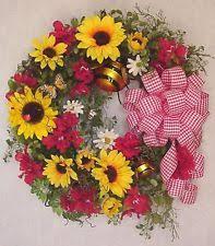 Sunflower Mesh Wreath Sunflower Wreath Ebay