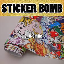 jdm sticker high quality jdm sticker bomb vinyl film roll air bubble free for