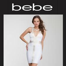 54 bebe dresses skirts white gold bebe con cutout