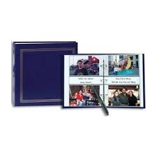 Photo Albums 4x6 500 Photos Amazon Com 3 Ring 2 Up Slip In Pocket Navy Blue Binder Album For