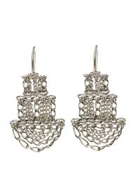 pagoda earrings small silver pagoda earrings kate wood jewellery