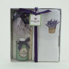 towel gift set lavender burgundy home decor