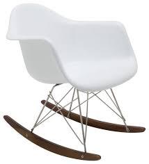Mid Century Modern Rocking Chair Baha Rocking Chair White Fiberglass Midcentury Rocking Chairs