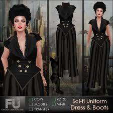 second life marketplace sci fi uniform dress u0026 boots womens