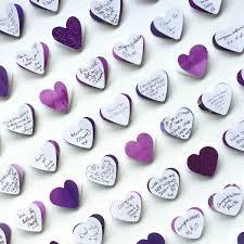 purple wedding guest book wedding guest book alternative purple wedding 100 hearts