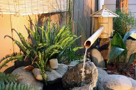 diy bamboo water feature backyard design ideas